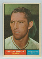 1961 Topps Baseball 55 Jim Davenport San Francisco Giants Excellent to Mint