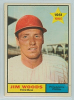 1961 Topps Baseball 59 Jim Woods Philadelphia Phillies Excellent to Mint