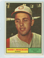1961 Topps Baseball 76 Harry Anderson Cincinnati Reds Excellent to Mint