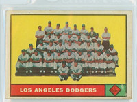 1961 Topps Baseball 86 Dodgers Team Very Good