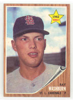 1962 Topps Baseball 19 Ray Washburn ROOKIE St. Louis Cardinals Near-Mint