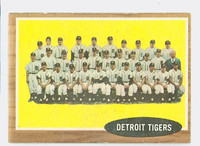 1962 Topps Baseball 24 Tigers Team Excellent