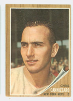 1962 Topps Baseball 26 Chris Cannizzaro New York Mets Excellent