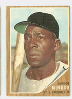 1962 Topps Baseball 28 Minnie Minoso St. Louis Cardinals Very Good to Excellent