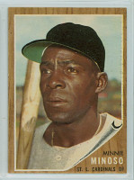 1962 Topps Baseball 28 Minnie Minoso St. Louis Cardinals Excellent to Mint