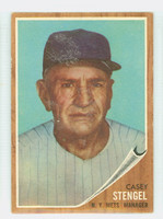 1962 Topps Baseball 29 Casey Stengel New York Mets Very Good