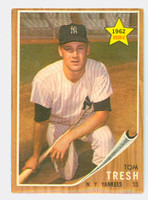 1962 Topps Baseball 31 Tom Tresh ROOKIE New York Yankees Excellent