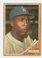 1962 Topps Baseball 32 John Roseboro Los Angeles Dodgers Excellent to Mint