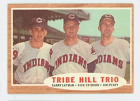 1962 Topps Baseball 37 Tribe Hill Trio Cleveland Indians Very Good