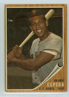 1962 Topps Baseball 40 Orlando Cepeda San Francisco Giants Good to Very Good