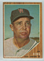 1962 Topps Baseball 42 Jim King Washington Senators Excellent to Excellent Plus