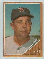 1962 Topps Baseball 42 Jim King Washington Senators Excellent to Mint