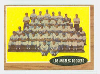 1962 Topps Baseball 43 Dodgers Team Very Good to Excellent