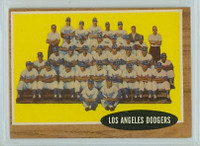 1962 Topps Baseball 43 Dodgers Team Excellent to Excellent Plus