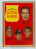 1962 Topps Baseball 51 AL Batting Ldrs Excellent to Excellent Plus