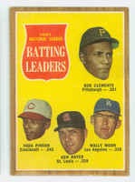 1962 Topps Baseball 52 NL Batting Ldrs Excellent