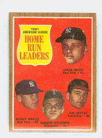 1962 Topps Baseball 53 AL HR Ldrs Excellent