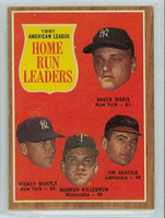 1962 Topps Baseball 53 AL HR Ldrs Excellent to Excellent Plus