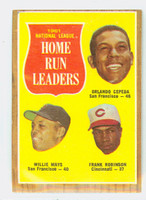 1962 Topps Baseball 54 NL HR Ldrs Excellent