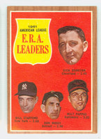 1962 Topps Baseball 55 AL ERA Ldrs Excellent