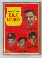 1962 Topps Baseball 55 AL ERA Ldrs Excellent to Excellent Plus