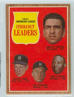 1962 Topps Baseball 59 AL Strikeout Ldrs Excellent to Mint