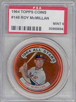 1964 Topps Coins 148 Roy McMillan Milwaukee Braves PSA 9 Mint
