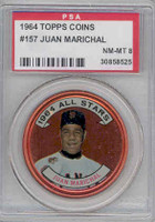 1964 Topps Coins 157 Juan Marichal San Francisco Giants PSA 8 Near Mint to Mint