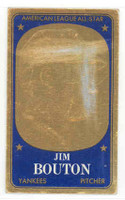 1965 Topps Embossed 25 Jim Bouton New York Yankees Very Good