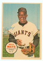 1967 Topps Pin-ups 12 Willie Mays San Francisco Giants Near-Mint