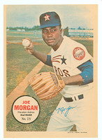 1967 Topps Pin-ups 25 Joe Morgan Houston Astros Excellent to Excellent Plus