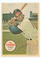 1967 Topps Pin-ups 27 Joe Torre Atlanta Braves Near-Mint