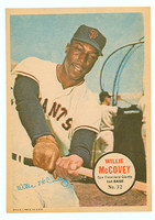 1967 Topps Pin-ups 32 Willie McCovey San Francisco Giants Near-Mint
