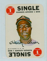 1968 Topps Game 4 Hank Aaron Atlanta Braves Near-Mint