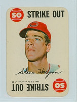 1968 Topps Game 15 Steve Hargan Cleveland Indians Fair to Good