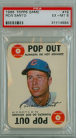 1968 Topps Game 19 Ron Santo Chicago Cubs PSA 6 Excellent to Mint