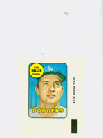 1969 Topps Decals 14 Tom Haller Los Angeles Dodgers Near-Mint to Mint