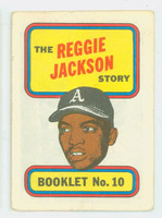 1970 Topps Story Booklets 10 Reggie Jackson Oakland Athletics Excellent