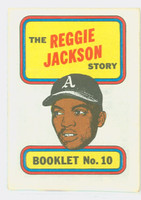 1970 Topps Story Booklets 10 Reggie Jackson Oakland Athletics Excellent to Mint