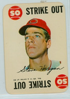 1968 Topps Game 15 Steve Hargan Cleveland Indians Very Good to Excellent