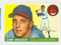 1955 Topps Baseball 7 Jim Hegan Cleveland Indians Very Good to Excellent