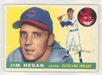 1955 Topps Baseball 7 Jim Hegan Cleveland Indians Excellent