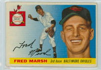 1955 Topps Baseball 13 Fred Marsh Baltimore Orioles Good to Very Good