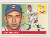 1955 Topps Baseball 14 Jim Finigan Kansas City Athletics Excellent
