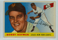 1955 Topps Baseball 17 Bobby Hofman New York Giants Good to Very Good