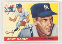 1955 Topps Baseball 20 Andy Carey New York Yankees Excellent