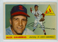 1955 Topps Baseball 21 Alex Grammas St. Louis Cardinals Very Good to Excellent