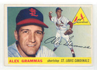 1955 Topps Baseball 21 Alex Grammas St. Louis Cardinals Excellent to Mint