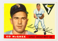 1955 Topps Baseball 32 Ed McGhee Chicago White Sox Good to Very Good
