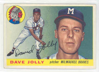 1955 Topps Baseball 35 Dave Jolly Milwaukee Braves Excellent